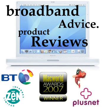 Apple Mac broadband. Broadband advice and product reviews.